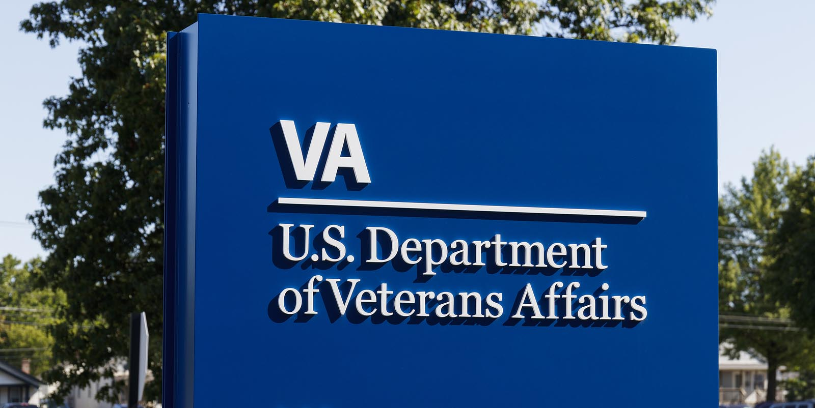 Sign for US Department of Veterans Affairs